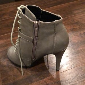 Grey ankle booties
